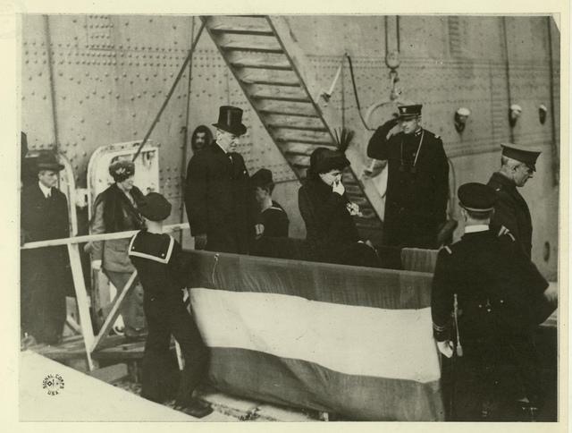 Wilson Disembarking U.S.S. George Washington