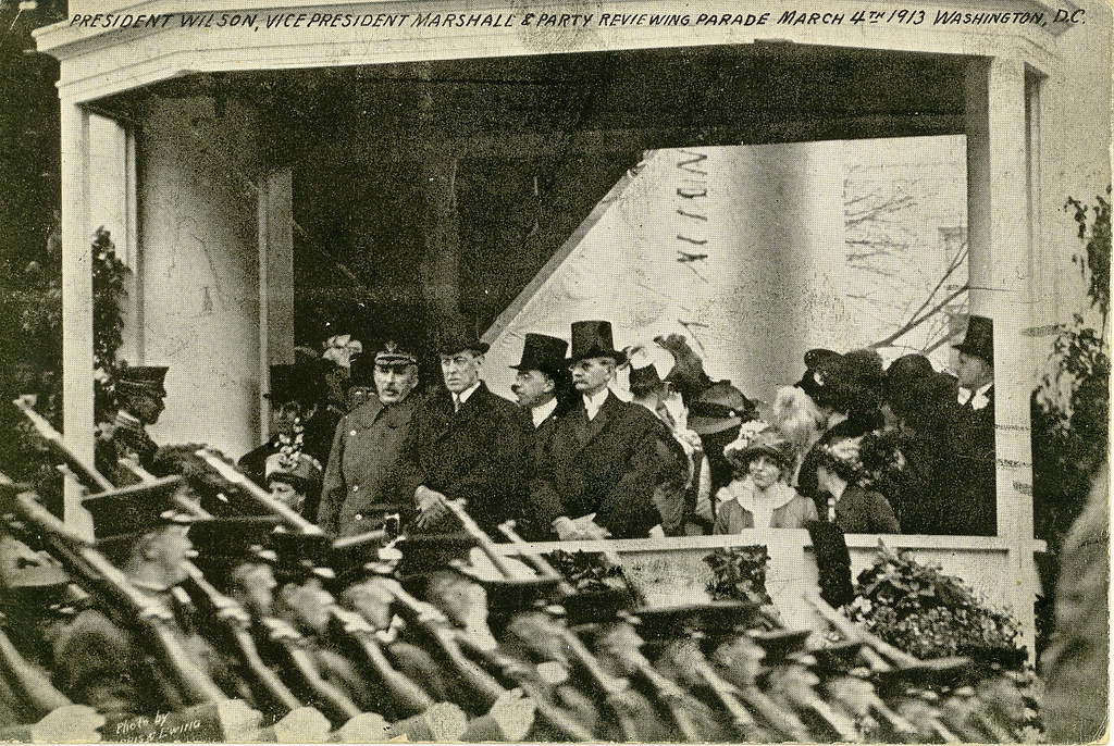 Wilson and Marshall Reviewing the Parade