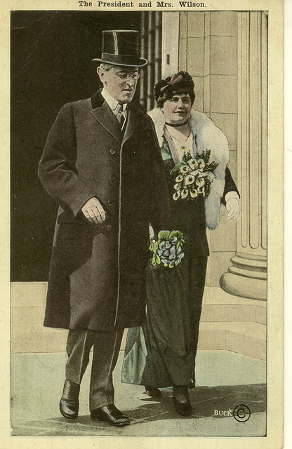 President and Mrs. Wilson Leaving Continental Hall