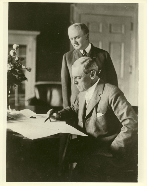President Wilson and Joseph Tumulty