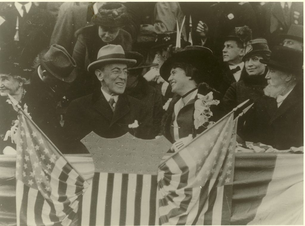 Wilson and Edith at a Ball Game