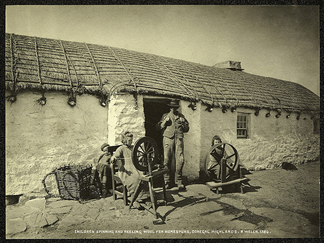 Children spinning, County Donegal