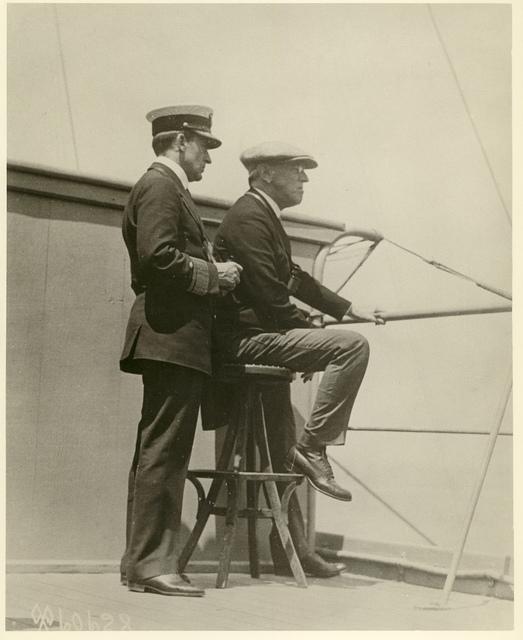 Wilson on the Bridge of the U.S.S. George Washington