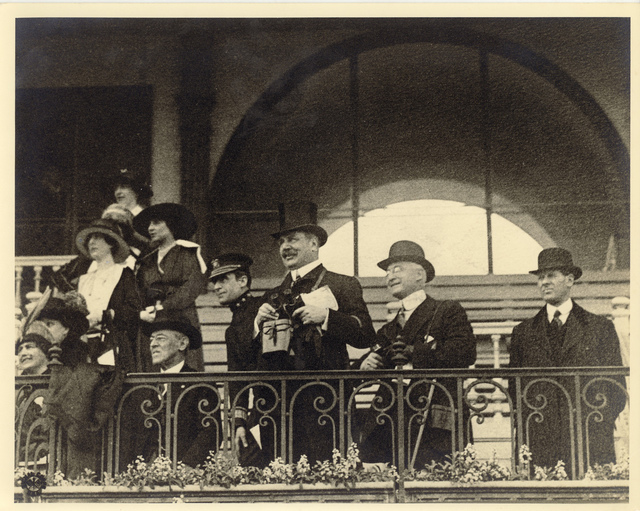 President and Mrs. Wilson and Other Dignitaries at Longchamp