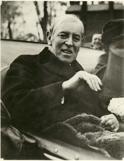 President Wilson En Route to Harding's Funeral