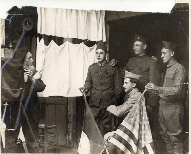 American Soldiers with Photographer