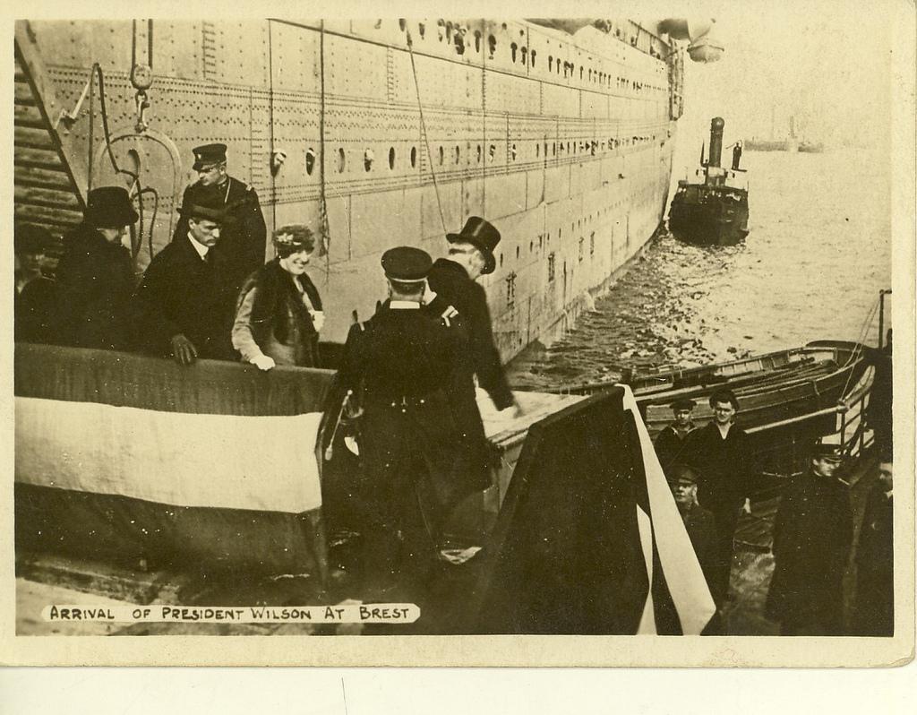 Wilson's Arrival at Brest, France
