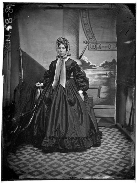 Fashionable lady, ca. 1865 / photographer Henry William Burgin II