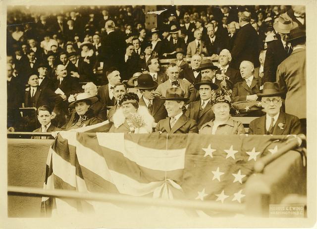 Woodorow Wilson at Ball Game