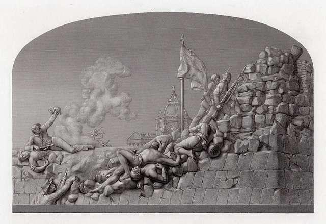 The Cashmere Bastion, Delhi. Sept. 14, 1857