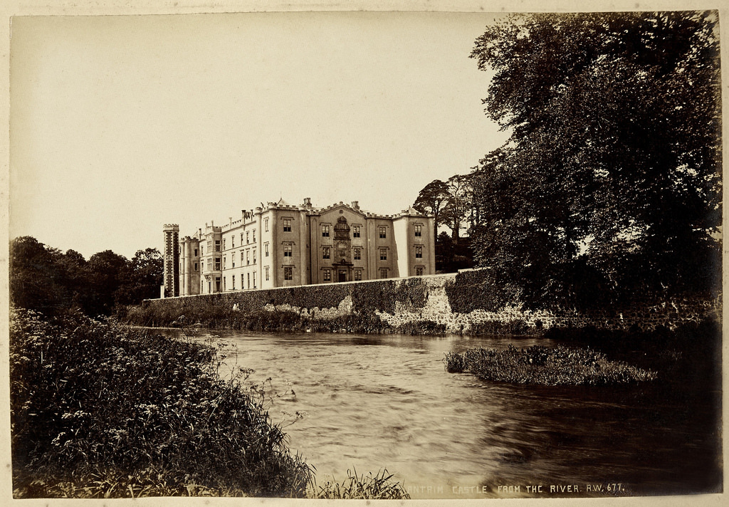 View of Antrim Castle from the river