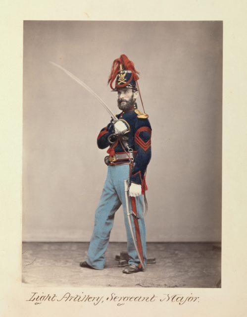 Light Artillery, Sergeant Major