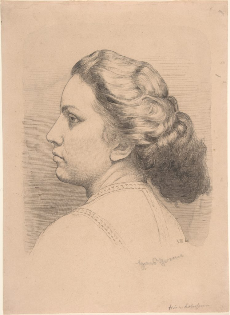 Portrait of a Woman (Mrs. von Kobestein?); verso: Sketches of two or three compositions, including a landscape