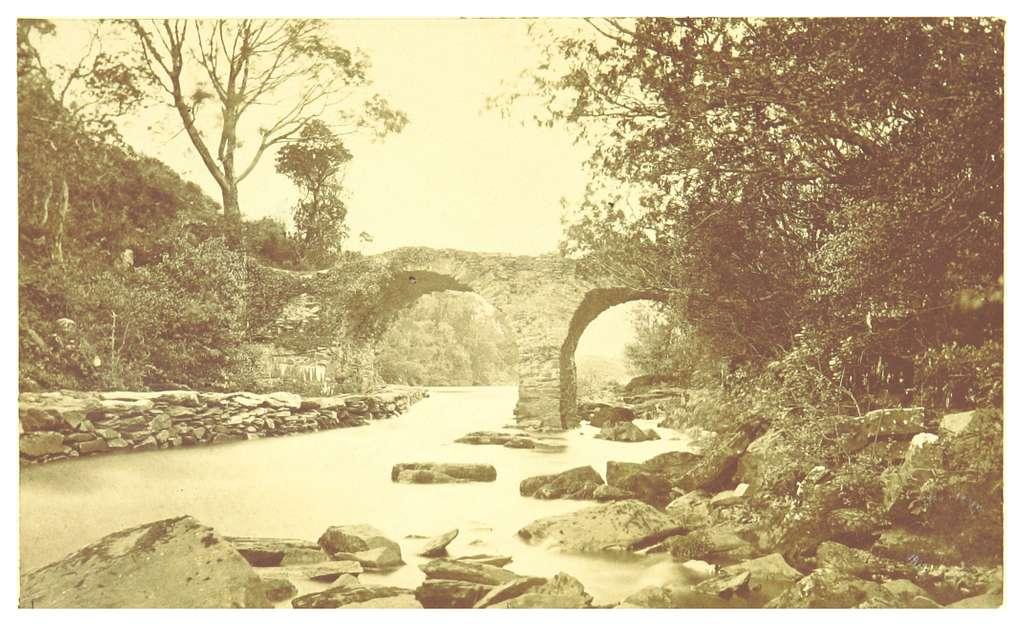 IRELAND(1866) p25 OLD WEIR BRIDGE