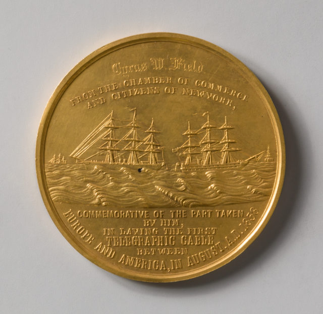 Congressional Medal to C. W. Field for the Successful Laying of the Atlantic Cable