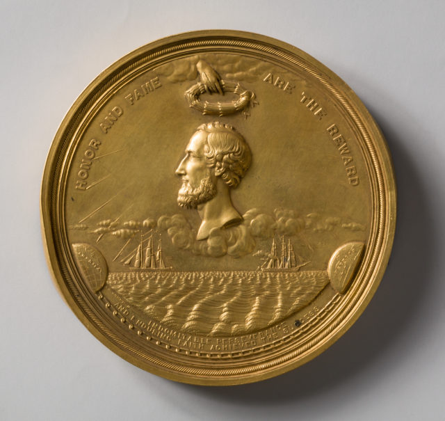 Congressional Medal to Cyrus W. Field for the Successful Laying of the Atlantic Cable