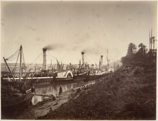 Fête de S. A. Ismaïl Pacha à bord des bateaux de LL. A A. les princes, janvier 1867