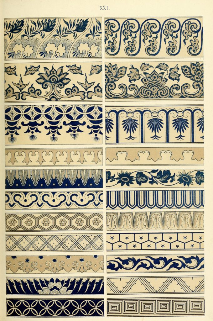Examples of Chinese ornament by Owen Jones, 1867