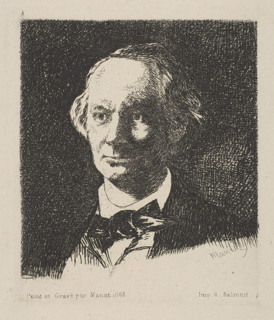 Portrait of Charles Baudelaire, Full Face, after a photograph by Nadar