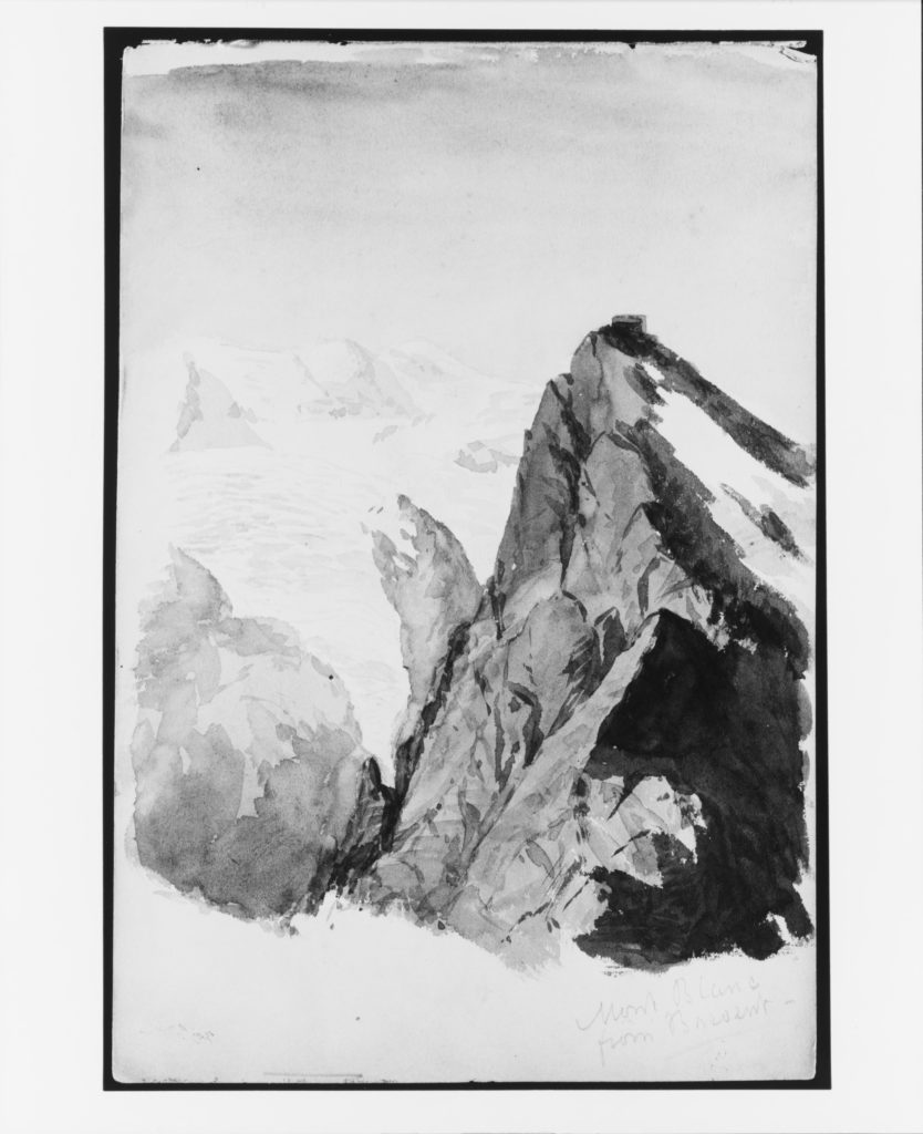 Mont Blanc from Brevent (from Switzerland 1869 Sketchbook)