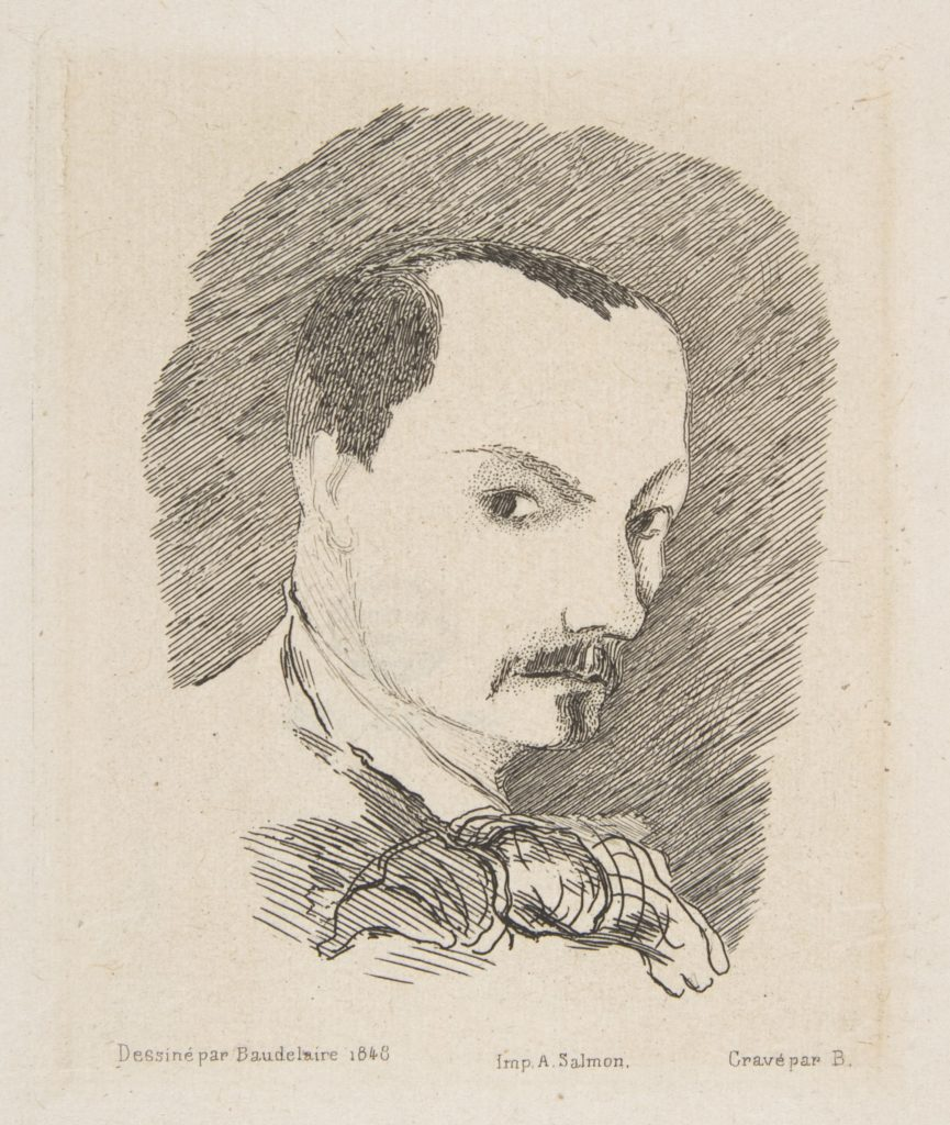 Portrait of Charles Baudelaire, after his own design of 1848