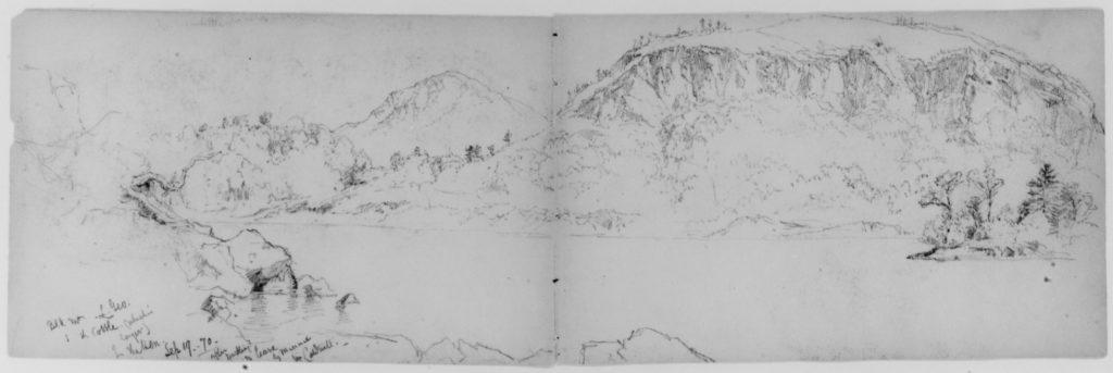 Black Mountain, Lake George (from Sketchbook)