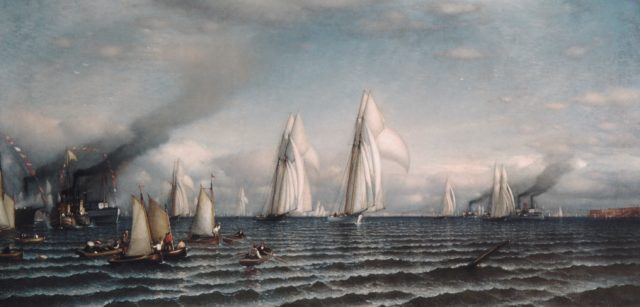 Finish—First International Race for America's Cup, August 8, 1870