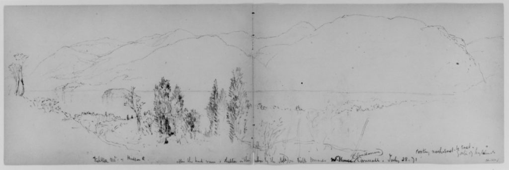 Fishkill Mountain, 1871 (from Sketchbook)