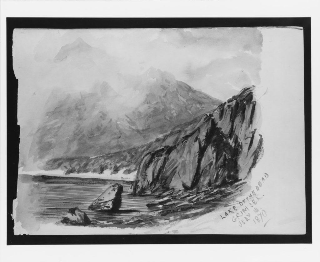 "Lake of the Dead, Grimsel (from ""Splendid Mountain Watercolours"" Sketchbook)"