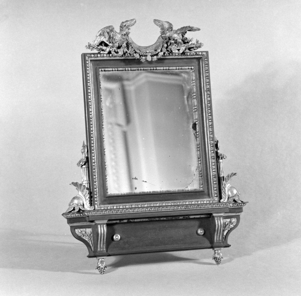 Rectangular toilet mirror