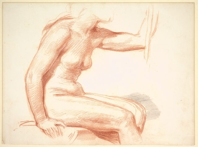 Study of a Female Nude, Seated