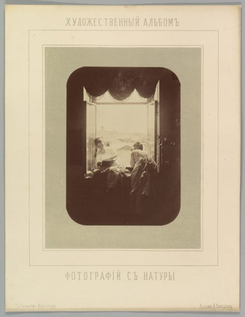 [Two Young Women at Window]