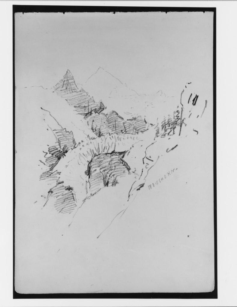 """Weisshorn (from """"Splendid Mountain Watercolours"""" Sketchbook)"""
