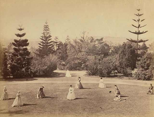 Croquet and archery, `Enmore House' grounds, Newtown, between 1865-1870 / photographer unknown