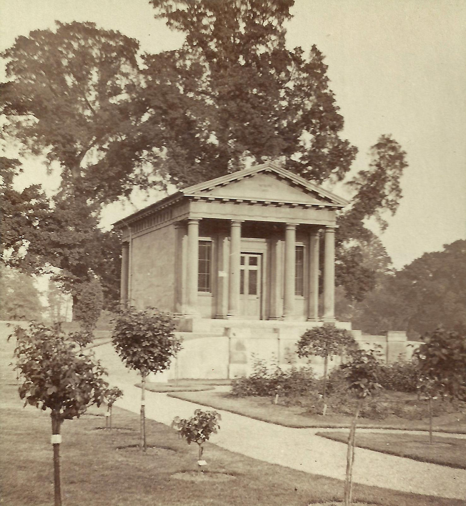 King William's Temple at Kew Gardens (detail from stereoview)