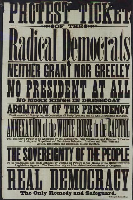 Protest Ticket of the Radical Democrats