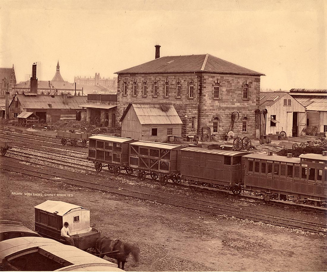 """Railway work shops"", Sydney, March 1871, Government Printing Office"