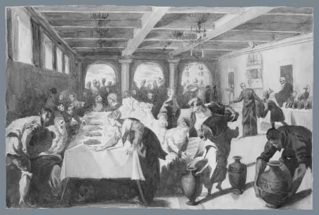The Marriage at Cana (from scrapbook)