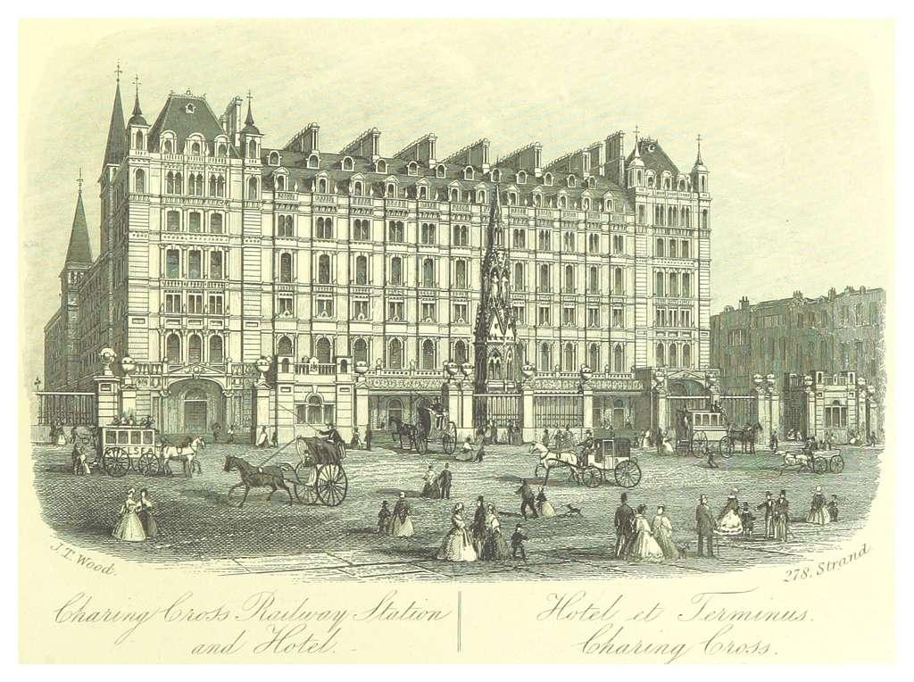 LONDON ILLUSTR(1872) p1.037 HOTEL AT CHARING CROSS