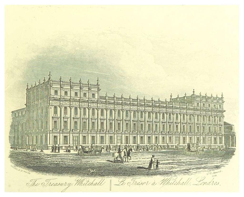 LONDON ILLUSTR(1872) p1.059 THE TREASURY, WHITEHALL