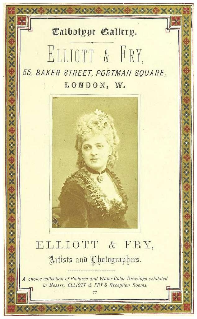 LONDON ILLUSTRATED p1.129 ADS. - ELLIOT & FRY