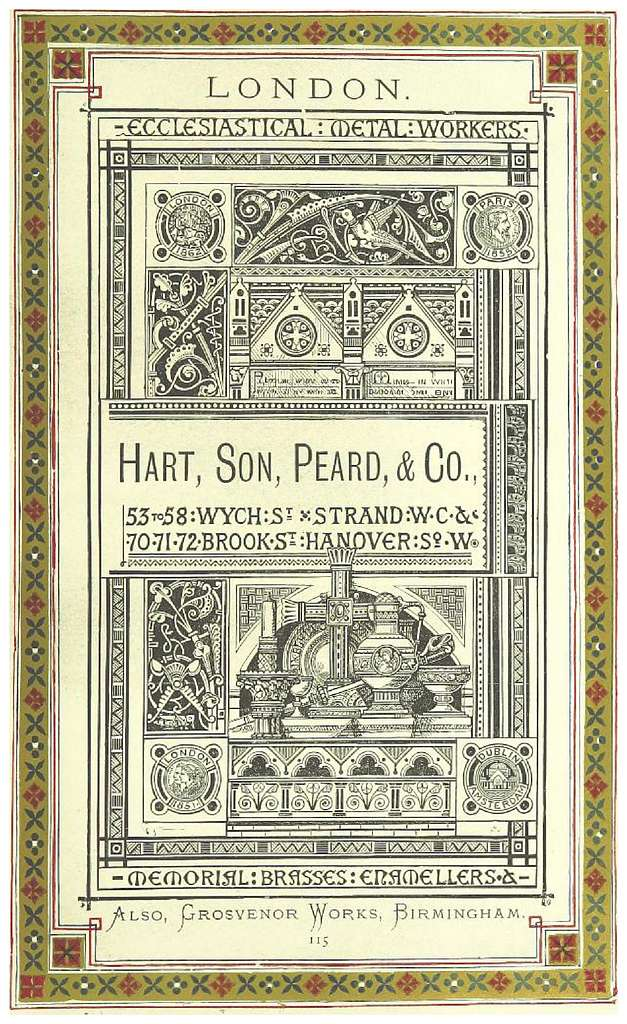 LONDON ILLUSTRATED p1.167 ADS. - HART, SON, PEARD & CO