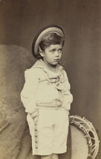 Nicholas II, Emperor of Russia (1868-1918) when Grand Duke Nicholas Alexandrovich.  circa 1872