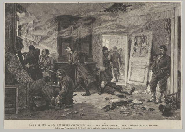 """Les Dernières Cartouches (from """"L'Univers illustré"""")"""