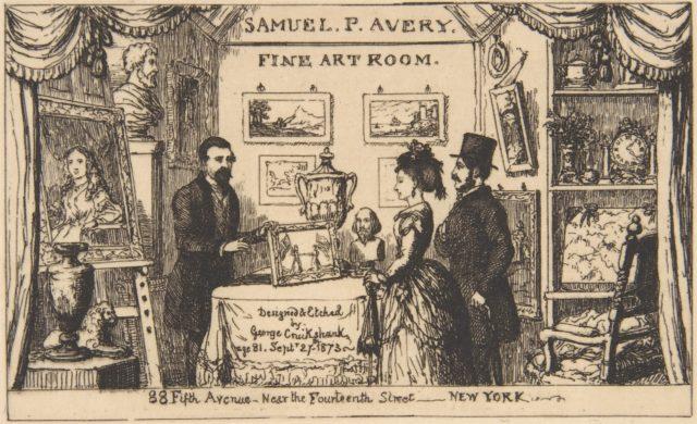 Trade card for Samuel P. Avery Fine Art Room