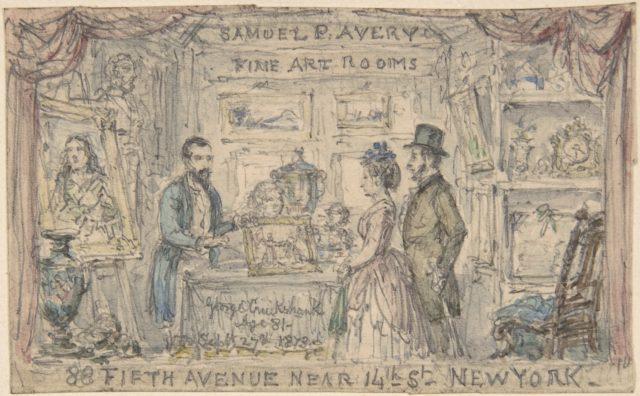 Trade card for Samuel P. Avery, New York