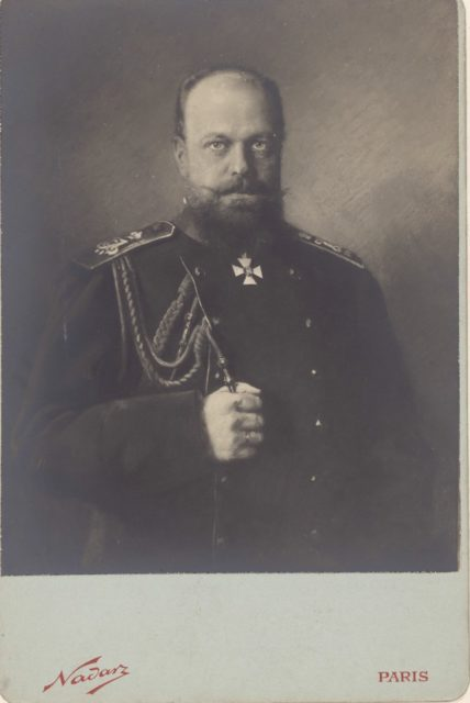 Postcard, Alexander III, the Emperor of Russia. photographic portrait