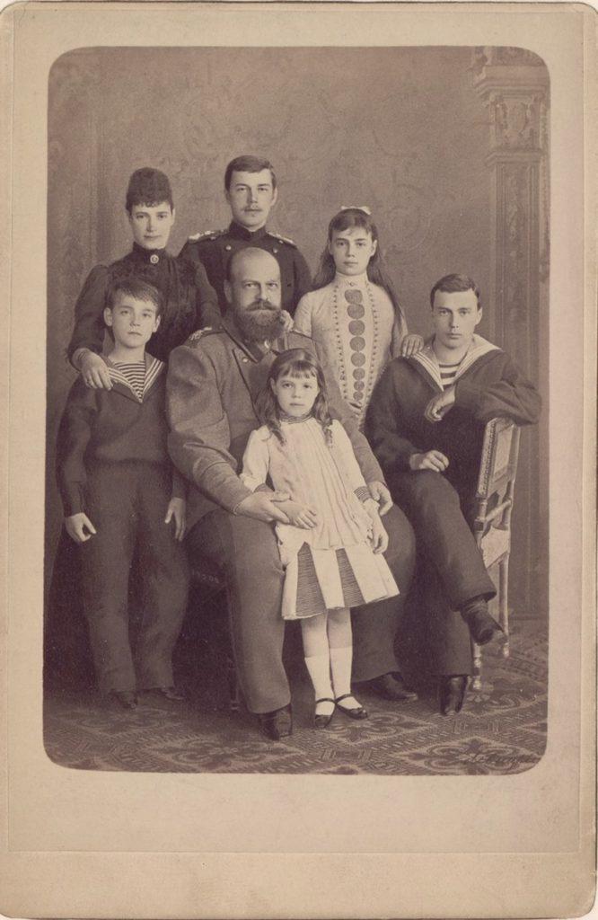 Alexander III, the Emperor of Russia's family portrait