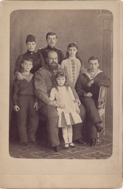 Alexander III, the Emperor of Russia's family portrait
