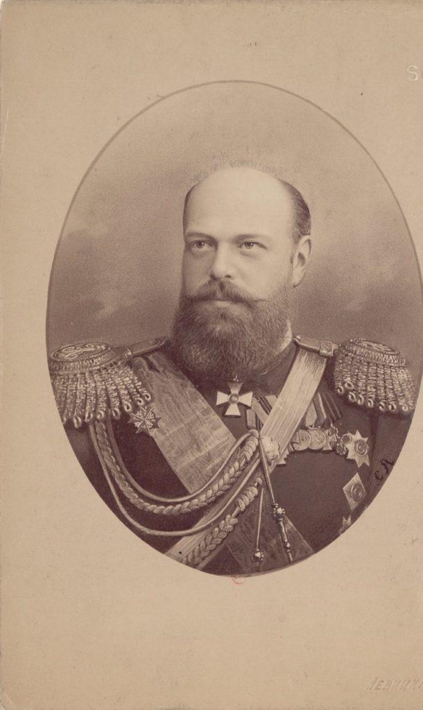 Alexander III, the Emperor of Russia in military uniform
